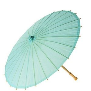 NWT large Tiffany blue paper parasol 32 in
